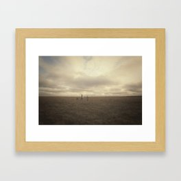Playtime on the Tundra Framed Art Print