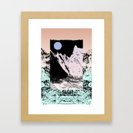That circle which might be a moon Framed Art Print
