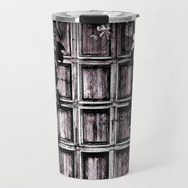 Black White Old Door Travel Mug