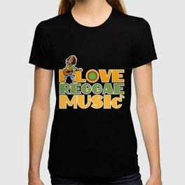 I Love Reggae Music   Jamaican Rasta Stoner Roots and Spliff Culture T-shirt