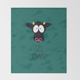Go Cows Poster Throw Blanket