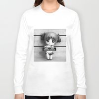 madoka Long Sleeve T-shirts featuring MADOKA LINEUP by Christophe Chiozzi