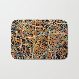 Colored Line Chaos #15 Bath Mat