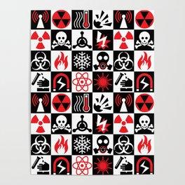 Hazard Danger Icons Poster