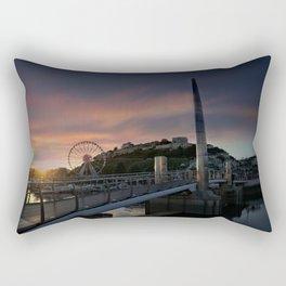 Torquay Harbour At Sunset Rectangular Pillow