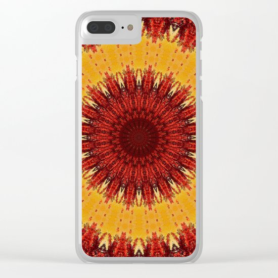 KALEIDOSCOPIC FALL Clear iPhone Case