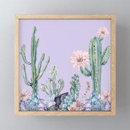 Desert Gemstone Oasis Light Purple Framed Mini Art Print