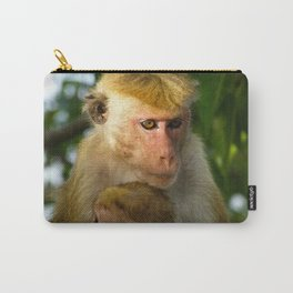 Macaque with baby  Carry-All Pouch