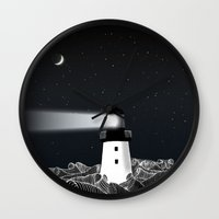 lighthouse Wall Clocks featuring Lighthouse by Florent Bodart / Speakerine
