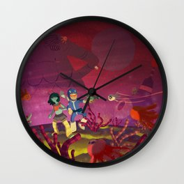 Matilda and Bouru - Alien Planet Wall Clock