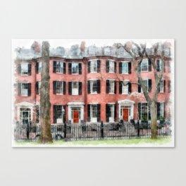 Historic Louisburg Square Beacon Hill Boston Canvas Print