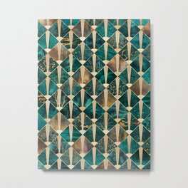 Art Deco Tiles - Ocean Metal Print
