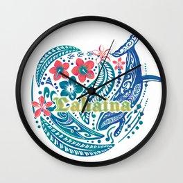 Lahaina Watercolor Whale Wall Clock