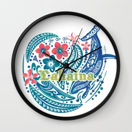 Lahaina Watercolor Whale Wall Clock