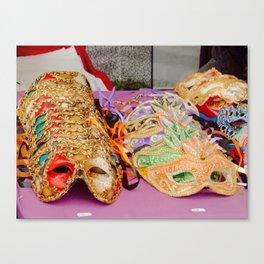 Mask Display Canvas Print