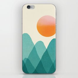 Abstraction_Mountains_SUNSET_Landscape_Minimalism_003 iPhone Skin