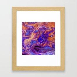 Fluid Color Framed Art Print