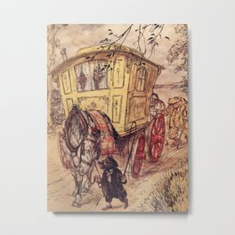 Arthur Rackham - The Wind in the Willows (1940) - The Gypsy Wagon Metal Print