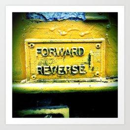backward & forwards Art Print