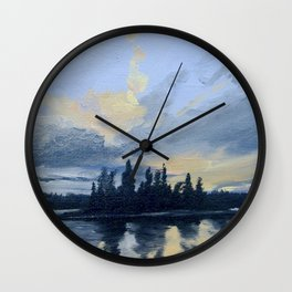 Clouds over White Lake Wall Clock