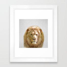 Lion - Colorful Framed Art Print