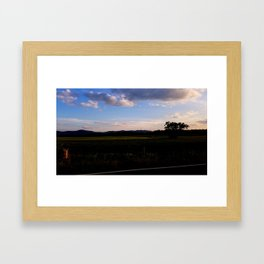 A Touch of Sunset Framed Art Print