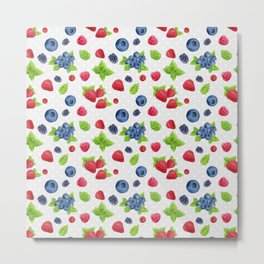 Berries Pattern 02 Metal Print