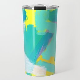 Be Kind, Be OK - mint modern mint abstract painting pastel colors Travel Mug