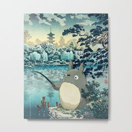 Japanese woodblock mashup Metal Print
