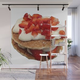 pancakes_strawberries_and_whip_cream Wall Mural