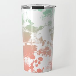 Abstract minimal ombre fade painted trendy modern color palette Travel Mug