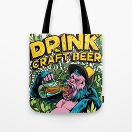 Drink Craft Beer Tote Bag