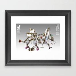Toiletbots Framed Art Print