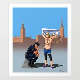 Swedish police Art Print