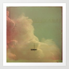 Once Upon a Time a Little Boat Art Print