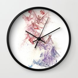 Flight of Bats Wall Clock