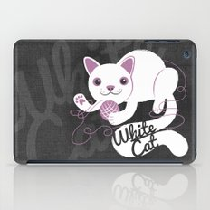 White Cat iPad Case