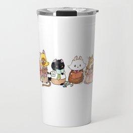 Reading Kitties Travel Mug