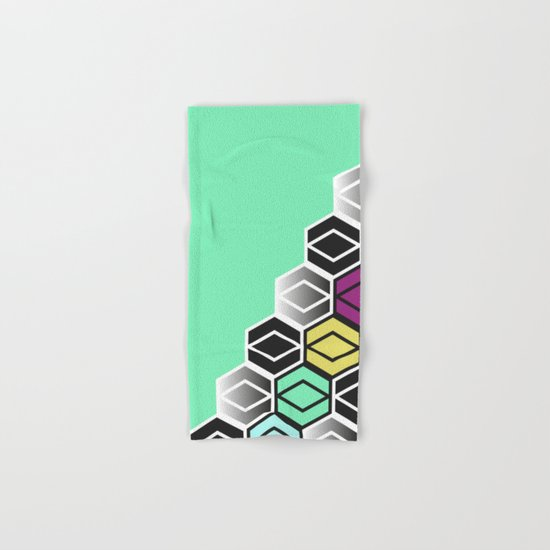 HexagonWall Hand & Bath Towel