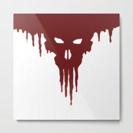 Dissolved Blood Skull Metal Print