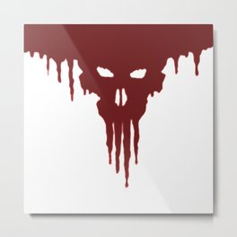 Dissolved Blood Skull Metal Print