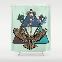 skyrim Shower Curtains featuring Triforce by Astrablink7