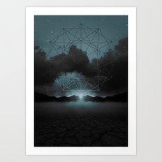 Beyond the Fog Lies Clarity | Midnight Art Print