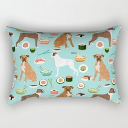 boxer sushi dog lover pet gifts cute boxers pure breeds Rectangular Pillow