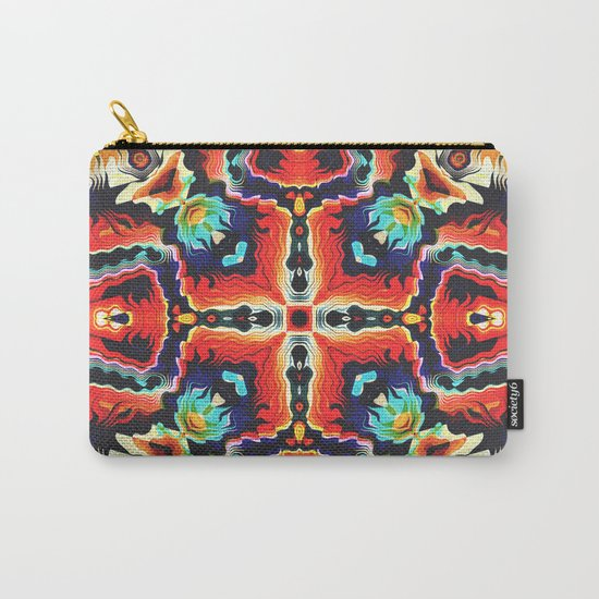 Colorful Tribal Pattern Carry-All Pouch