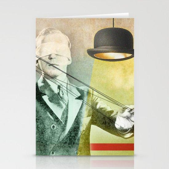 Blindfold bowler Stationery Cards