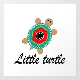 Favourite turtle Art Print