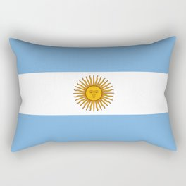 Argentina Flag Argentinian Patriotic Rectangular Pillow
