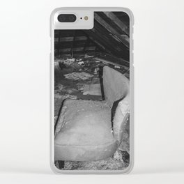 Attic, Yellow House, Arena, ND 3 Clear iPhone Case
