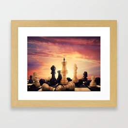 the rise of a chess player Framed Art Print